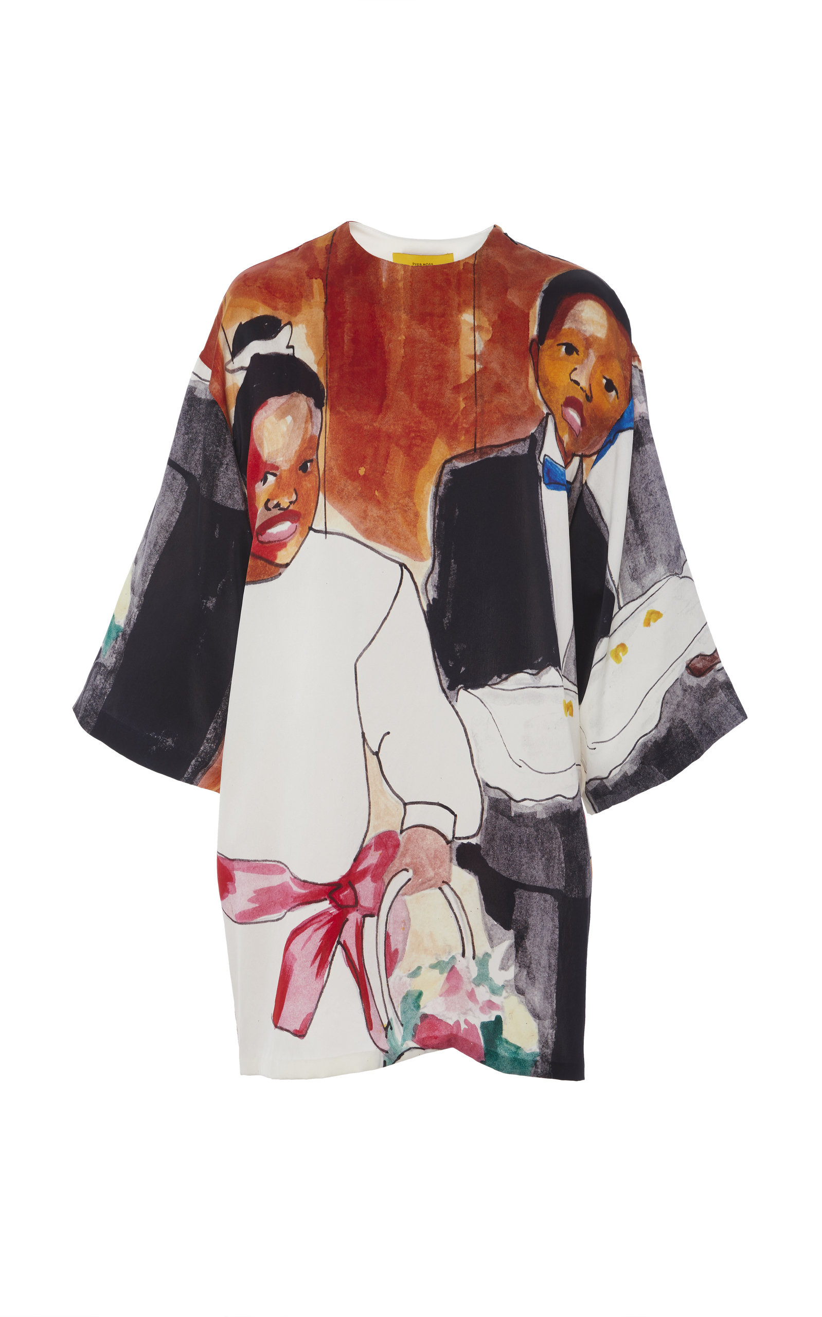 97f69ce0d5 Printed Silk Dress by Pyer Moss | Moda Operandi