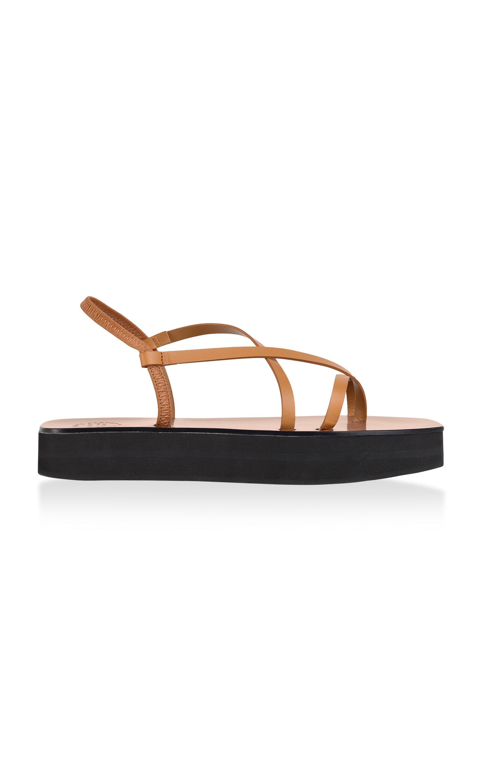 1ca7c15d085f2e Maremma Leather Platform Sandals by ATP Atelier