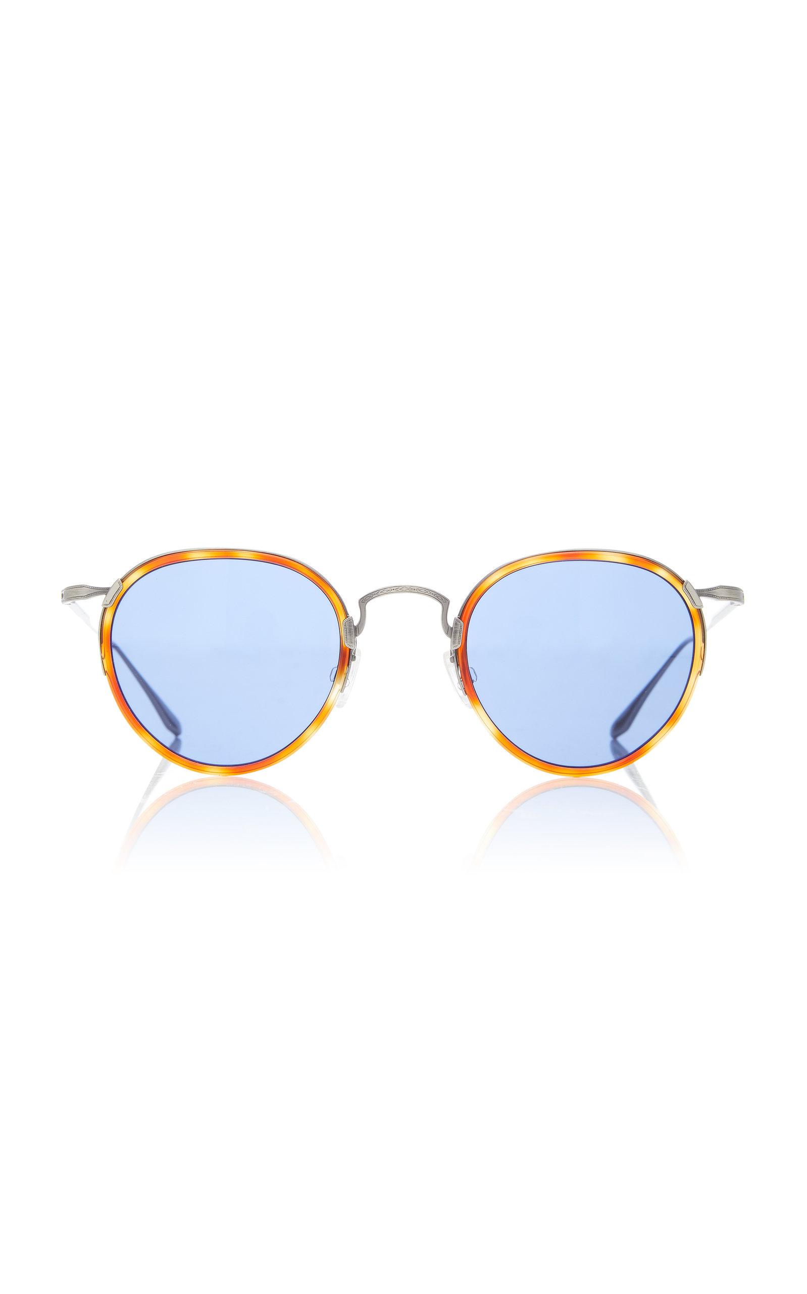 12b02b69b1a3 Barton Perreira Aalto Havana Round Sunglasses In Orange