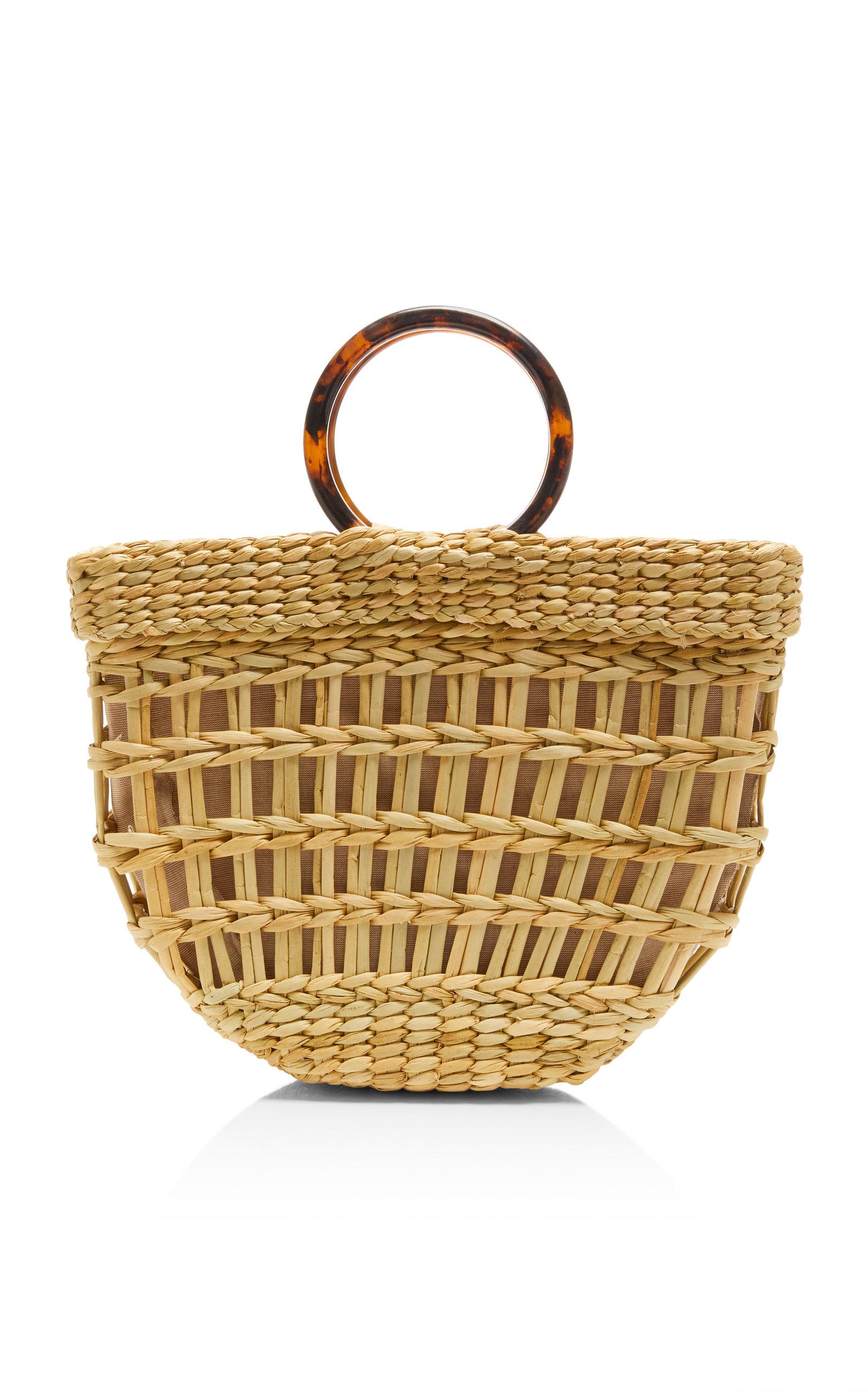 POOLSIDE | Poolside Bec Straw Top Handle Bag | Goxip