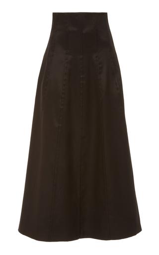 MARINA MOSCONE | Marina Moscone Dirndl Wool Silk Blend Skirt | Goxip
