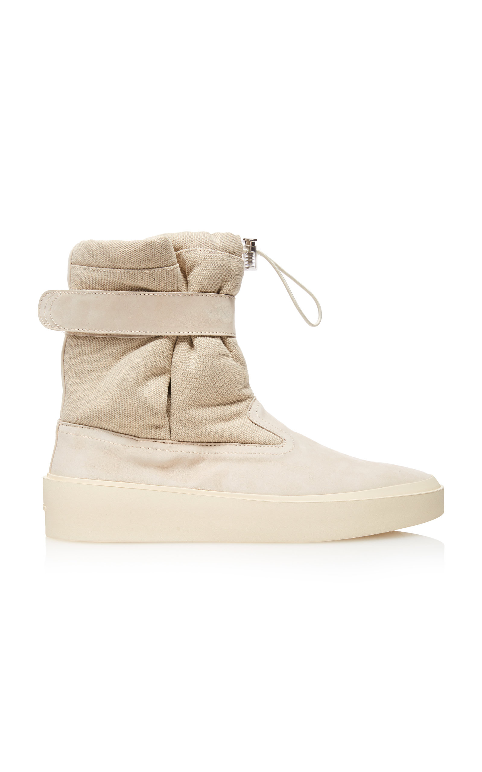 Fear Of God Boots Ski Lounge Suede And Canvas Sneakers