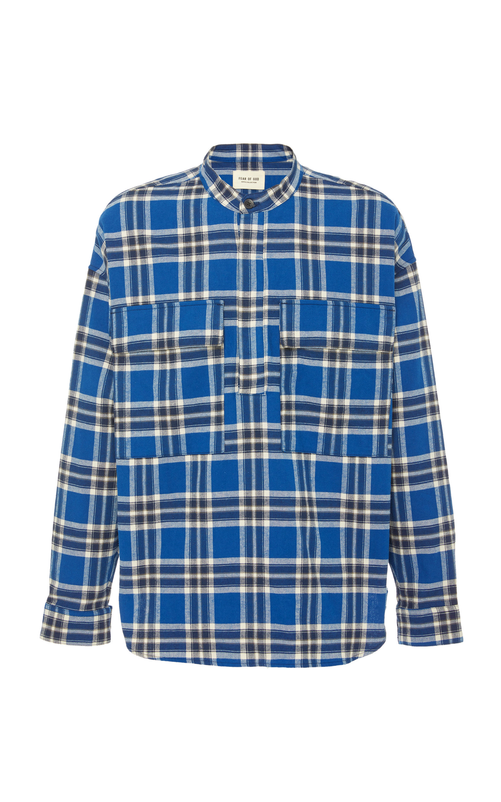 Fear Of God T-shirts Plaid Cotton-Flannel Henley