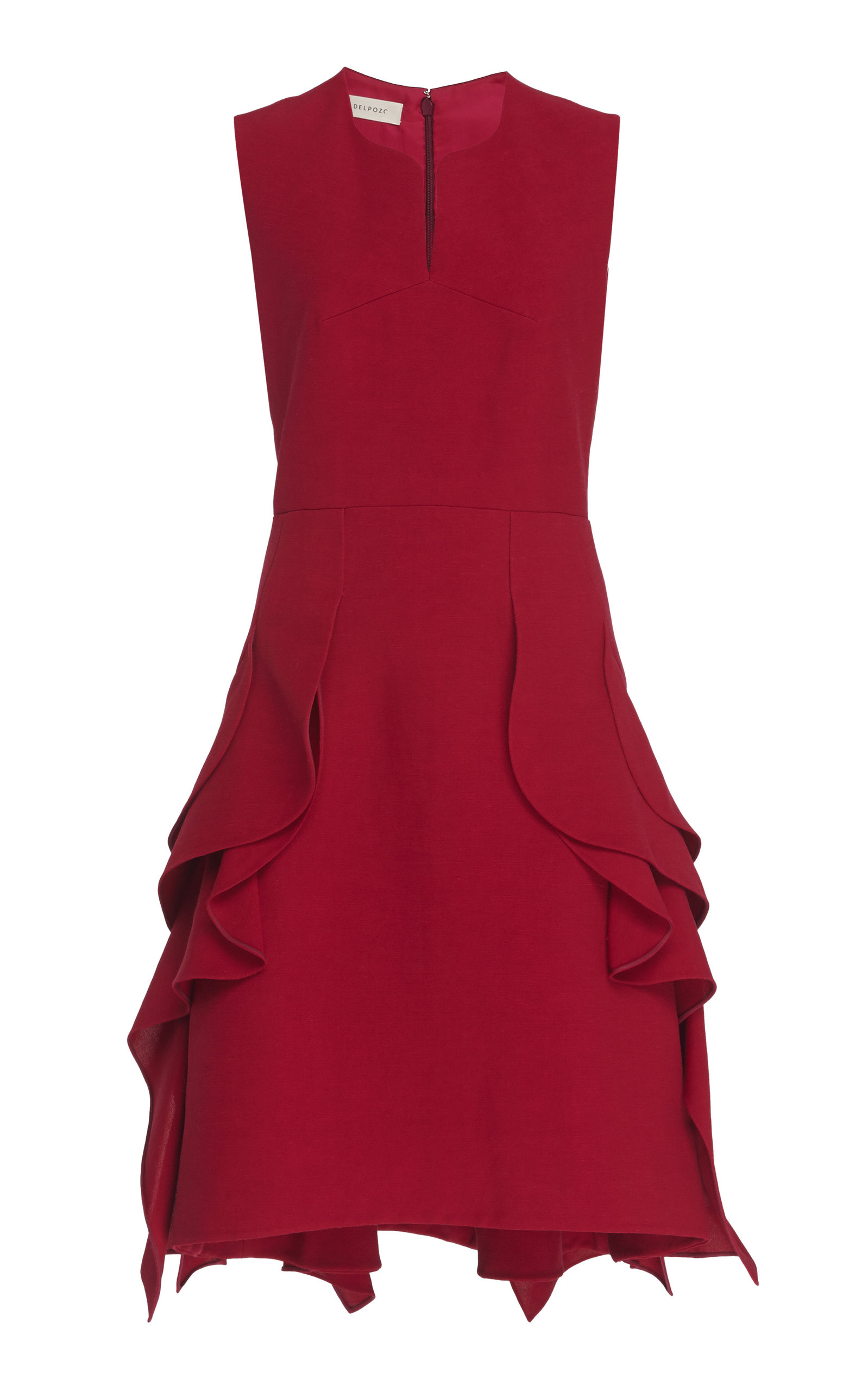de568712e4 Ruffled Crepe Dress