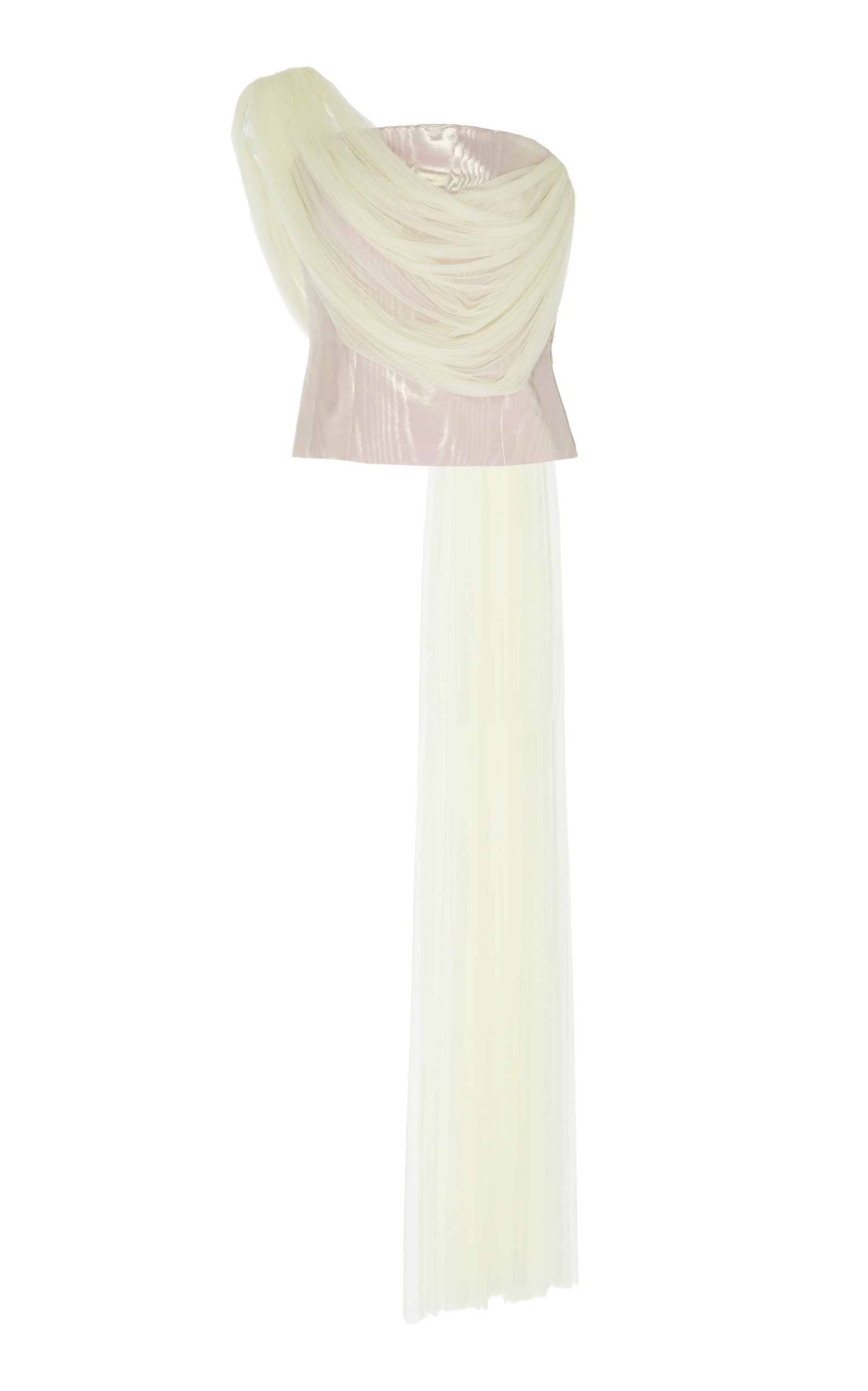 d1fe4f9cbe1 Moiré Corset With Tulle by DELPOZO