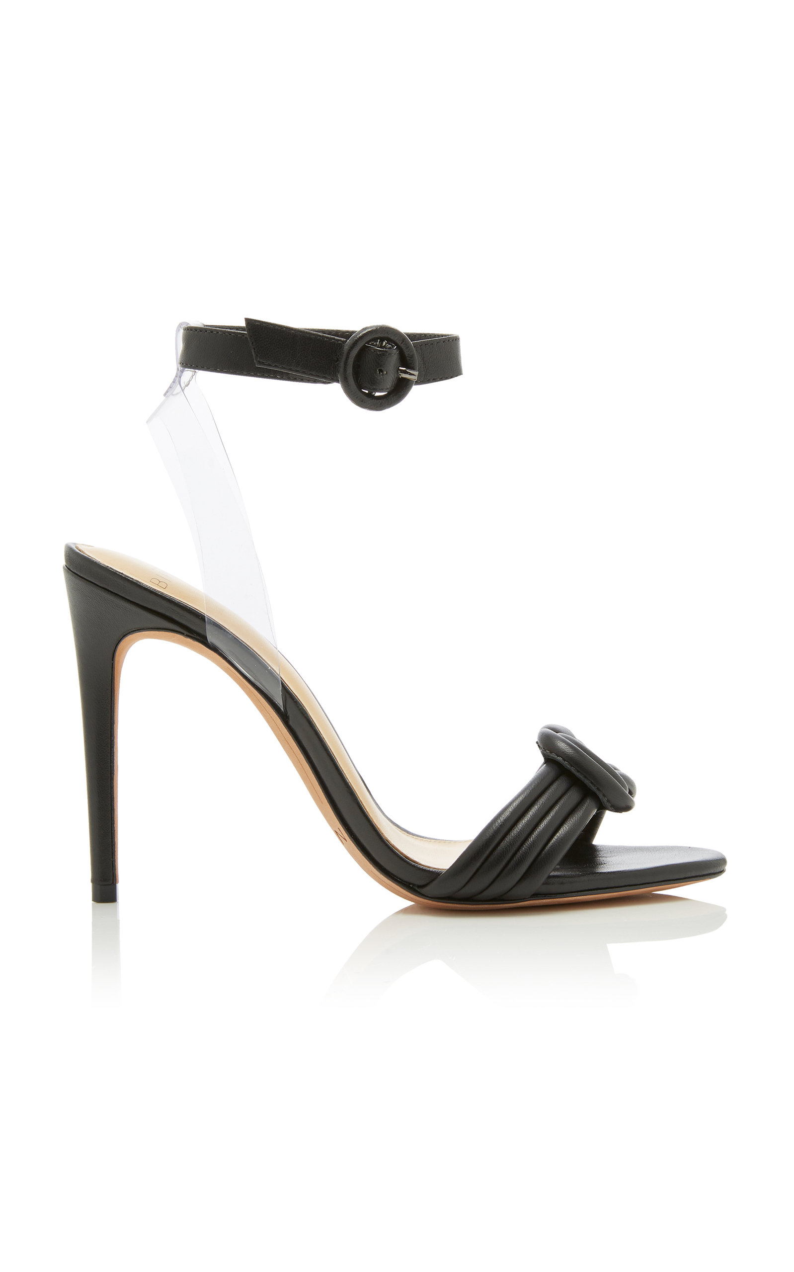 ALEXANDRE BIRMAN | Alexandre Birman Vicky Knotted Leather And PVC Sandals | Goxip