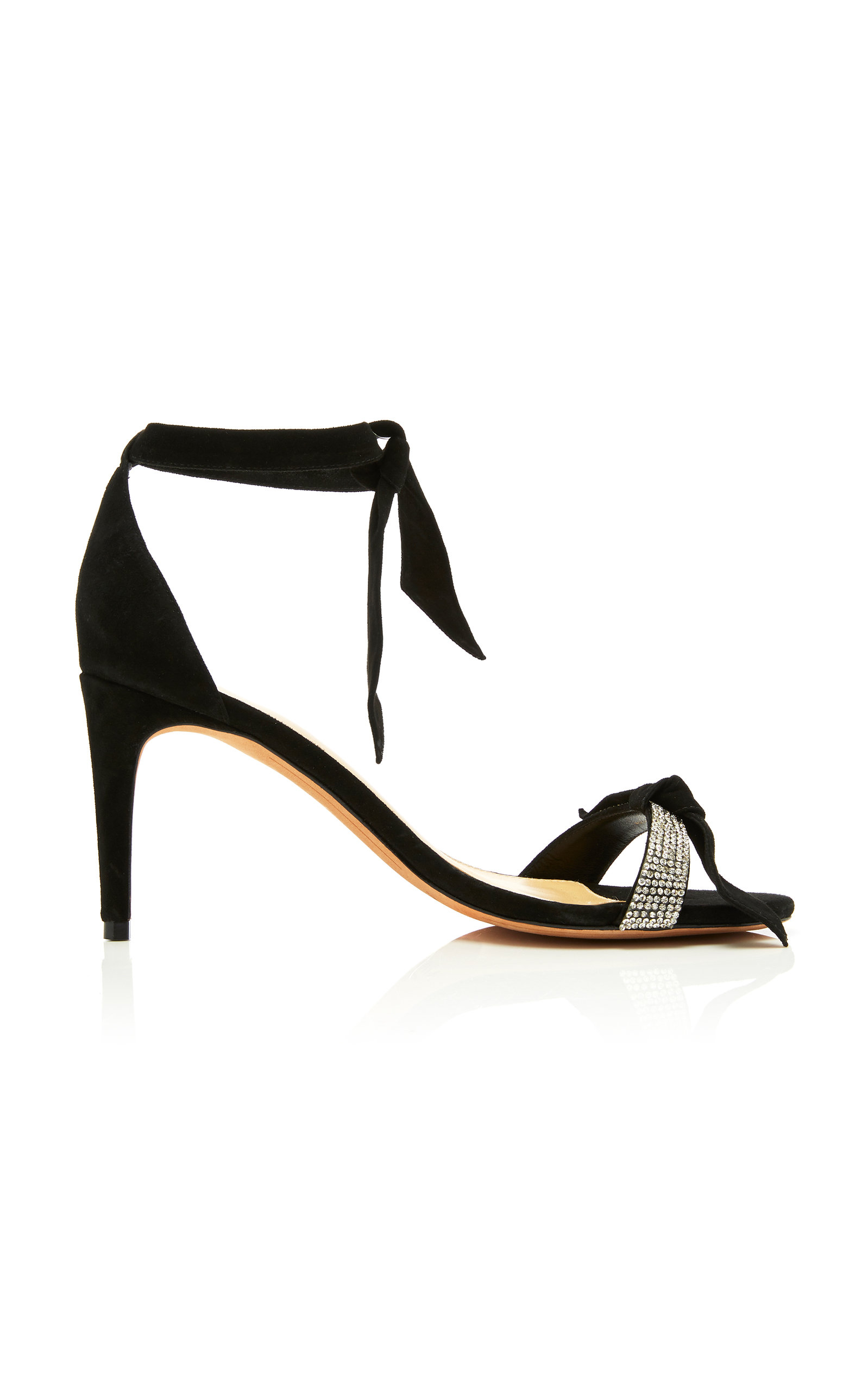 ALEXANDRE BIRMAN | Alexandre Birman Clarita Crystal And Bow-Embellished Suede Sandals | Goxip