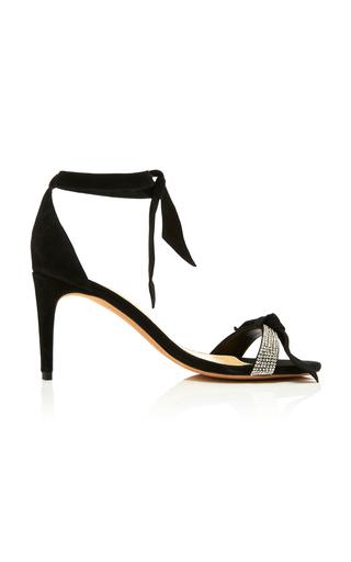 ALEXANDRE BIRMAN | Alexandre Birman Clarita Crystal and Bow-Embellished Suede Sandals | Goxip