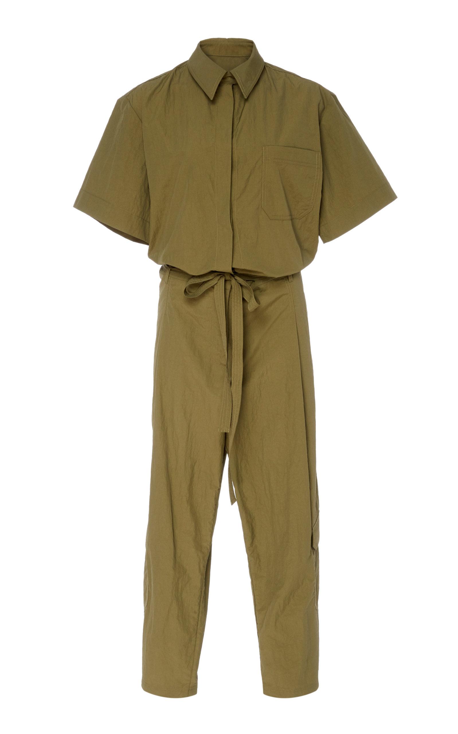0b076a6445f DeveauxShort Sleeve Cotton Blend Jumpsuit. CLOSE. Loading