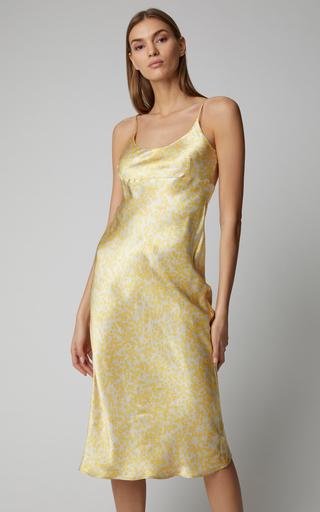 1919d40f455 GanniPrinted Satin Midi Dress