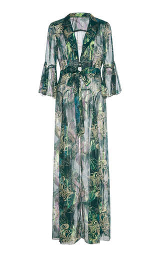 b6f0b4c52639 Anna SuiButterfly Feather Silk Mesh And Lurex Jacquard Cover-Up