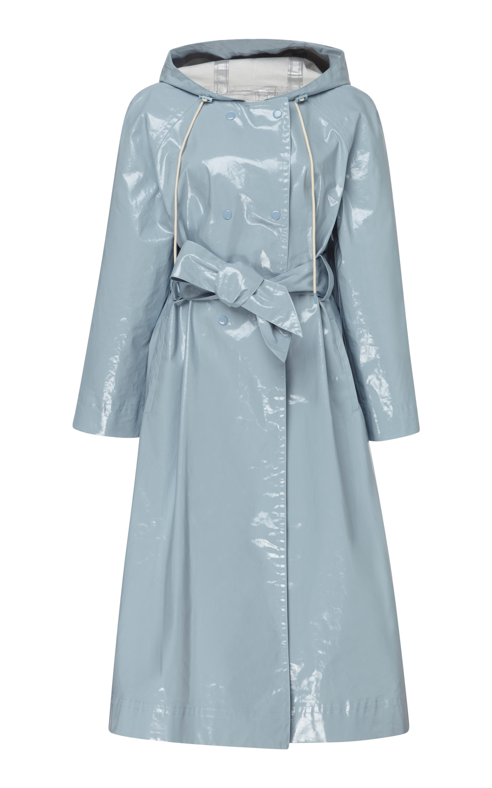 Alexa Chung HOODED VINYL TRENCH COAT
