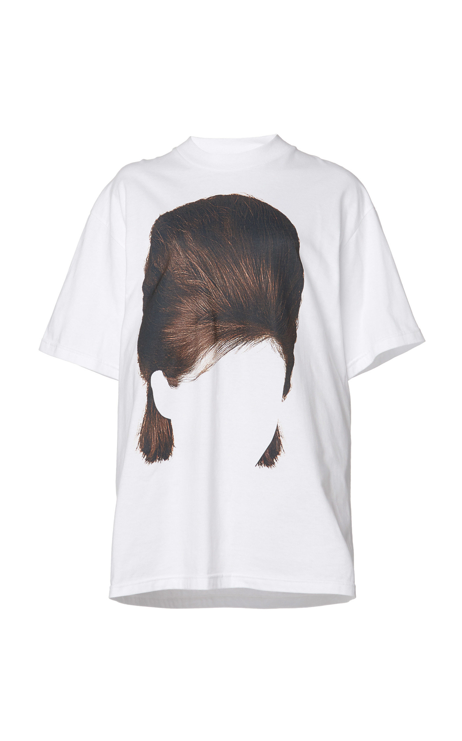 Pushbutton PRINTED HAIR COTTON T-SHIRT