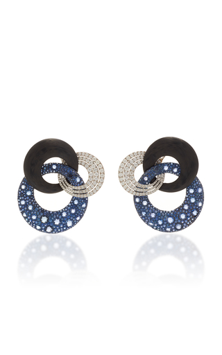 FABIO SALINI | Fabio Salini One-Of-A-Kind Sapphire And Diamond Earrings | Goxip