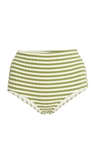SOLID & STRIPED | Solid & Striped Ginger Striped Bikini Briefs | Goxip