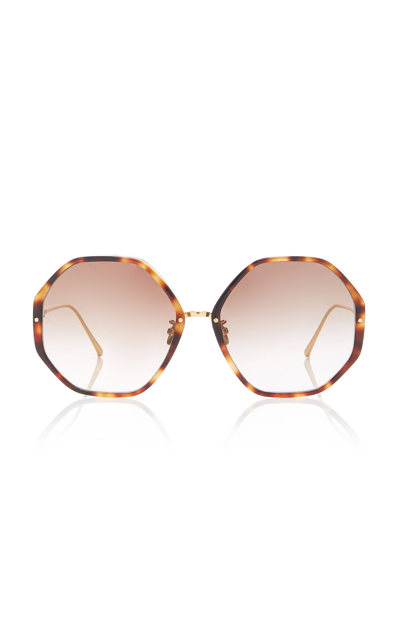 db7e652b46 Linda FarrowCat-Eye Tortoiseshell Acetate And Titanium Sunglasses. CLOSE.  Loading