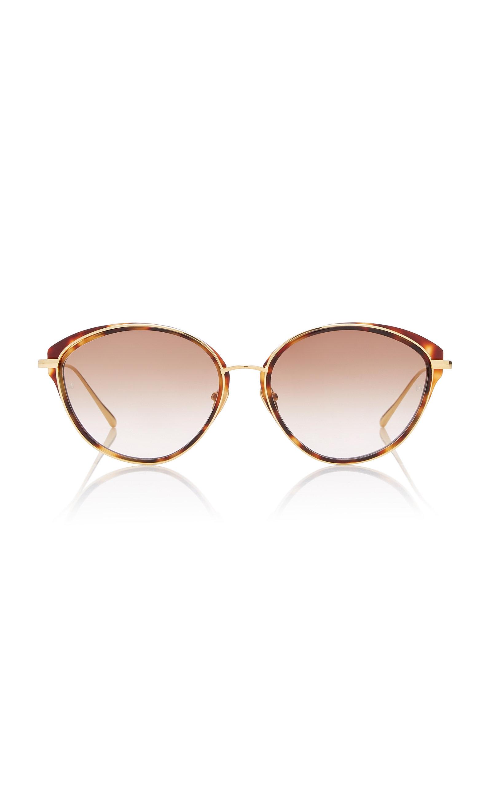 8e08adc1c57 Linda FarrowCat-Eye Tortoiseshell Acetate And Titanium Sunglasses. CLOSE.  Loading