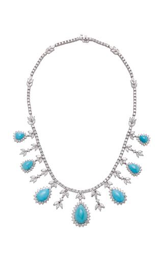 GIOIA | Gioia Platinum Turquoise And Diamond Necklace | Goxip