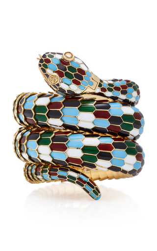 GIOIA | Gioia Vintage Bulgari Harlequin Serpenti Bracelet-Watch | Goxip