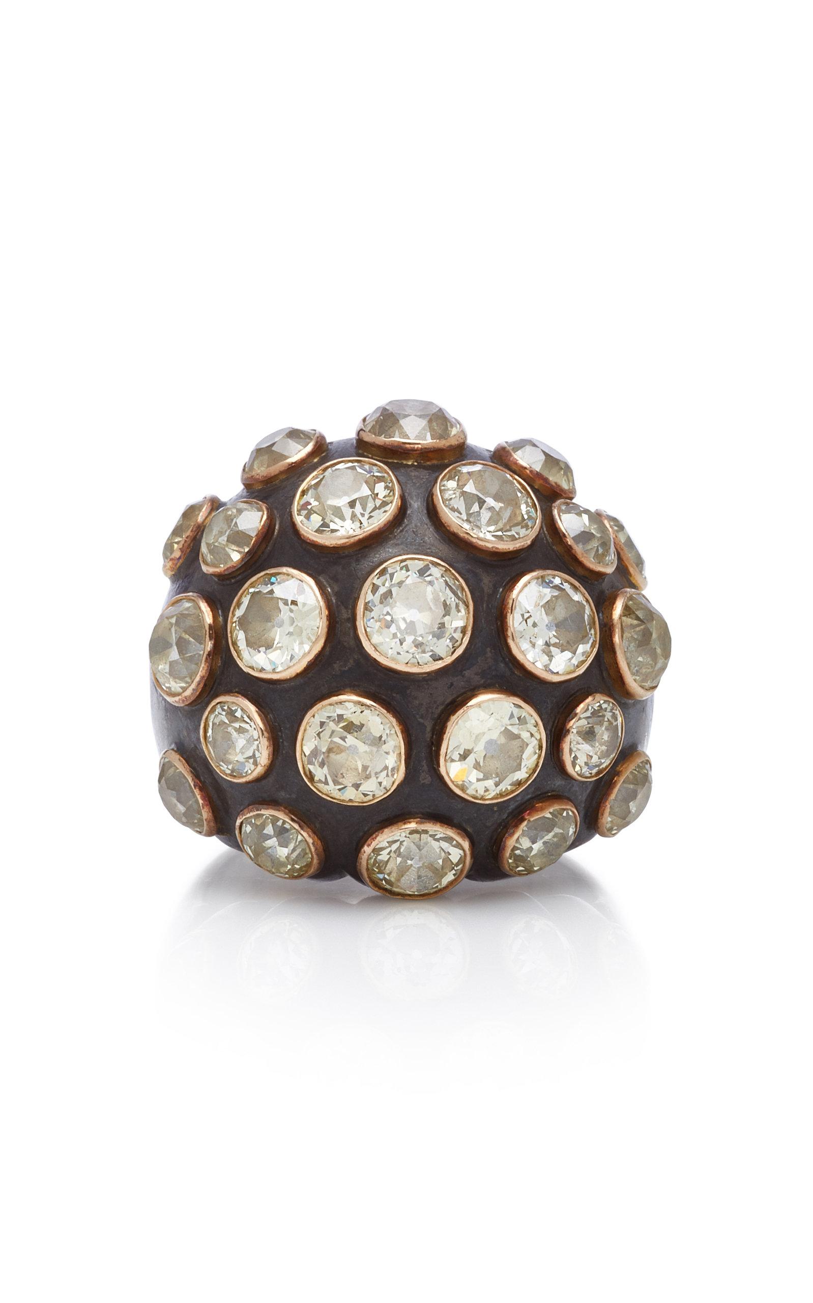 GIOIA | Gioia Diamond And 18K Gold Bombe Ring | Goxip
