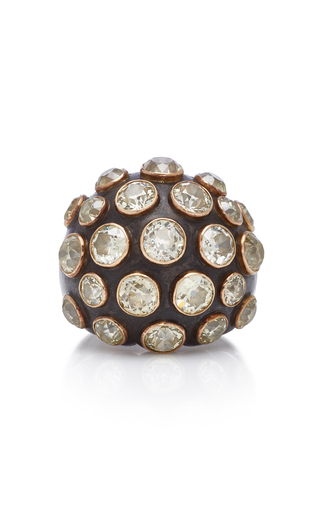 GIOIA | Gioia Diamond And 18K Gold Bombe Ring | Goxip