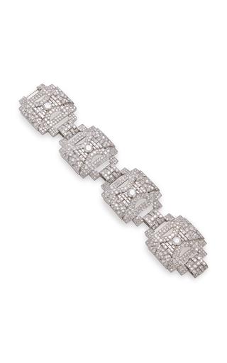 GIOIA | Gioia Vintage Platinum And Diamond Bracelet | Goxip