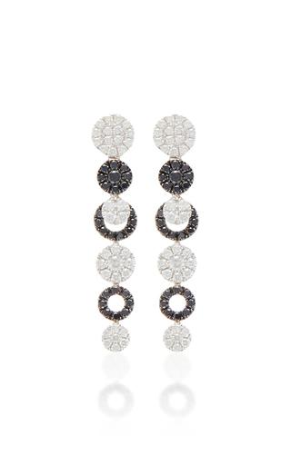 18k white gold black and white diamond earrings by moda. Black Bedroom Furniture Sets. Home Design Ideas