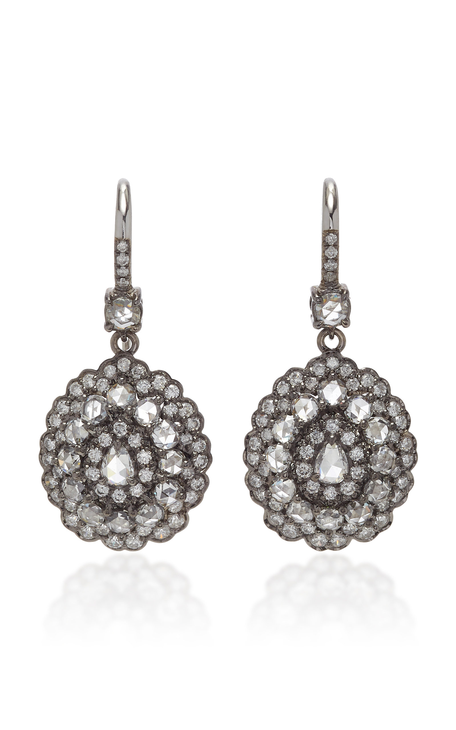 NAM CHO 18K Gold Diamond Earrings in White