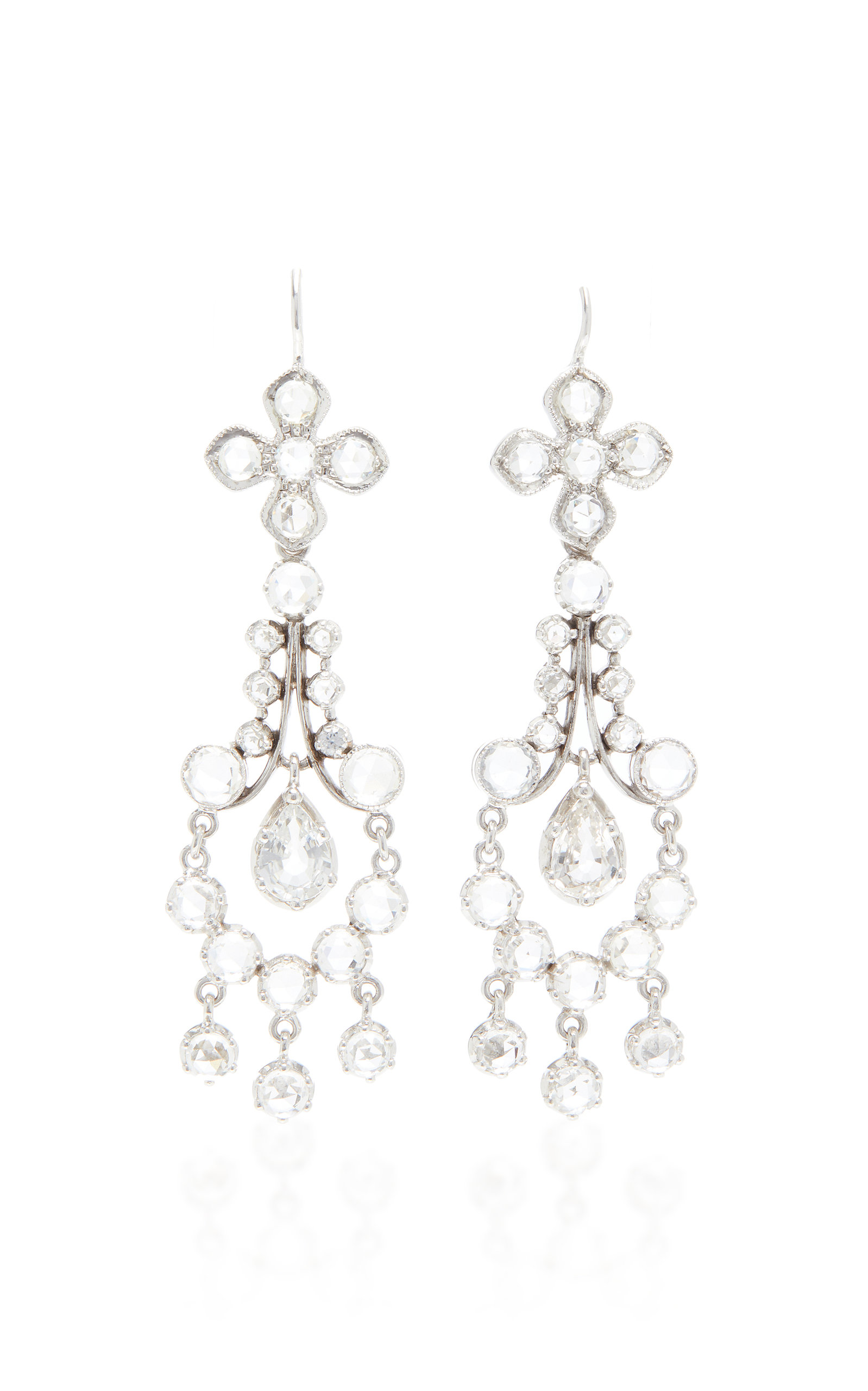 NAM CHO 18K White Gold And White Sapphire Earrings