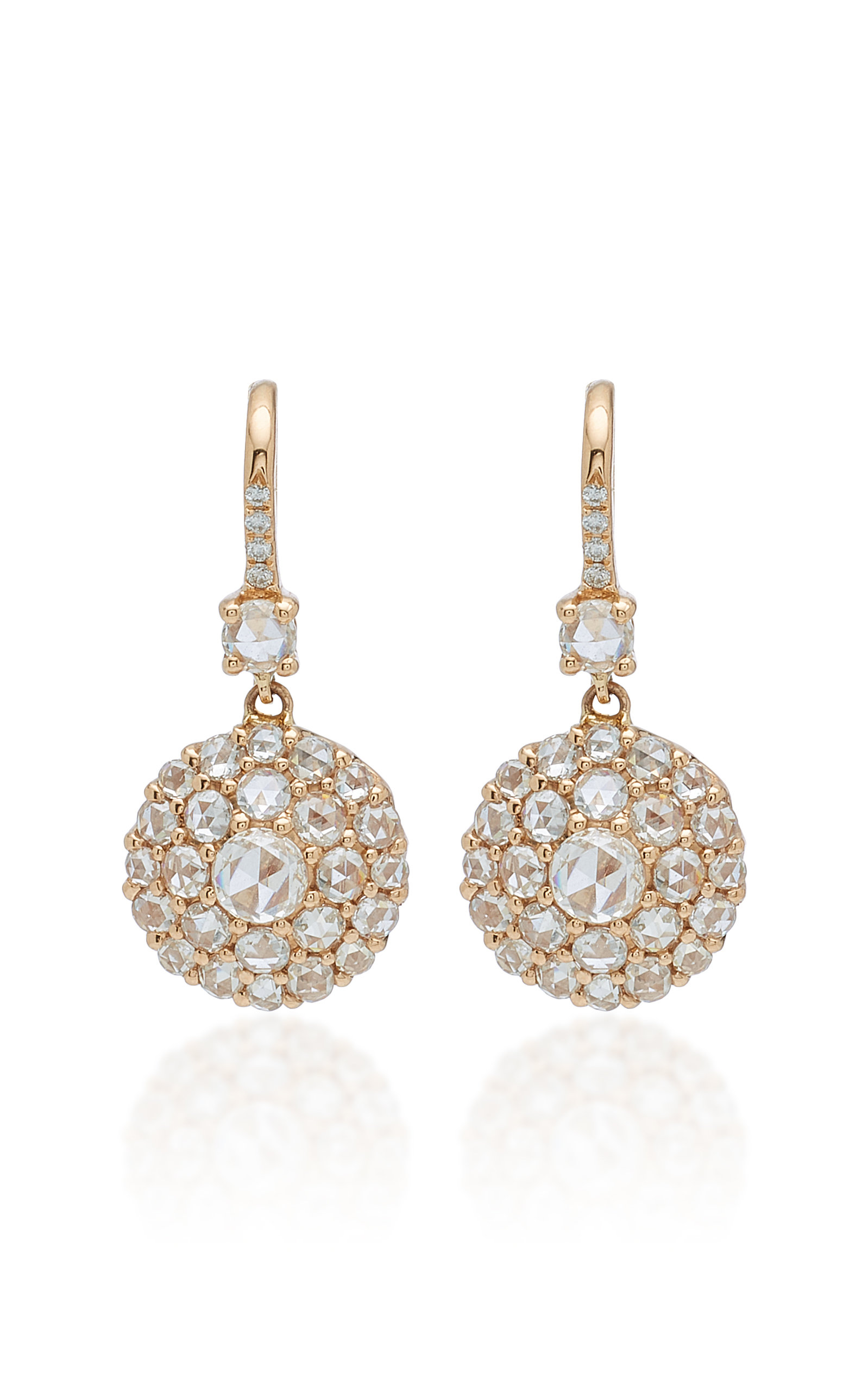 NAM CHO 18K Rose Gold And Diamond Earrings in Pink