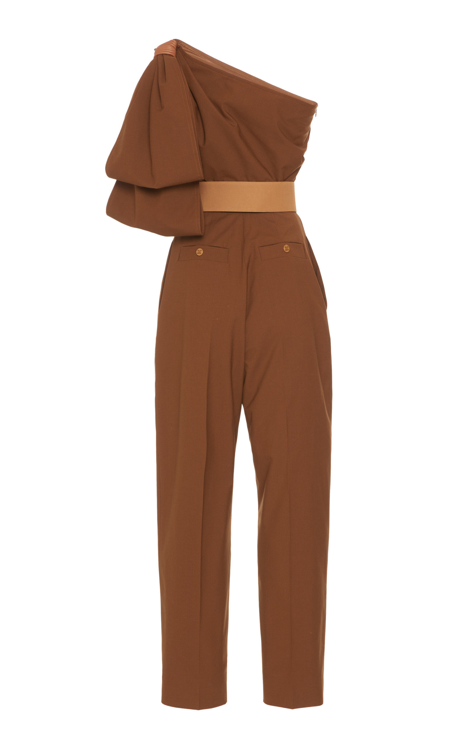 1b760910458 Max MaraAvola One-Shoulder Cotton-Poplin Jumpsuit. CLOSE. Loading. Loading.  Loading