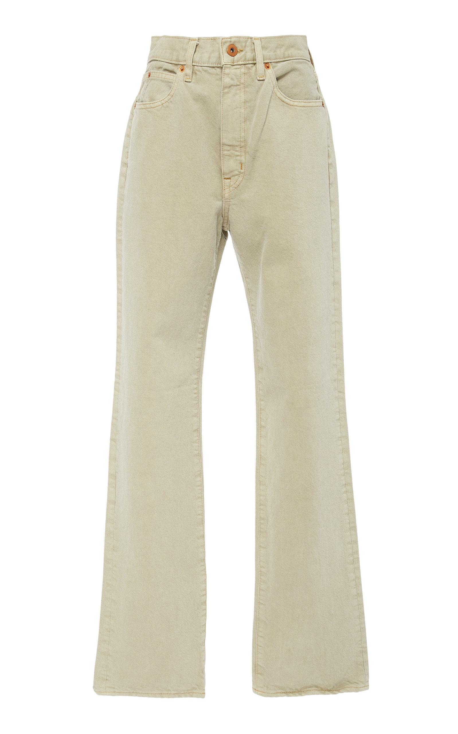 SLVRLAKE DENIM London High-Rise Straight-Leg Jeans in Neutral