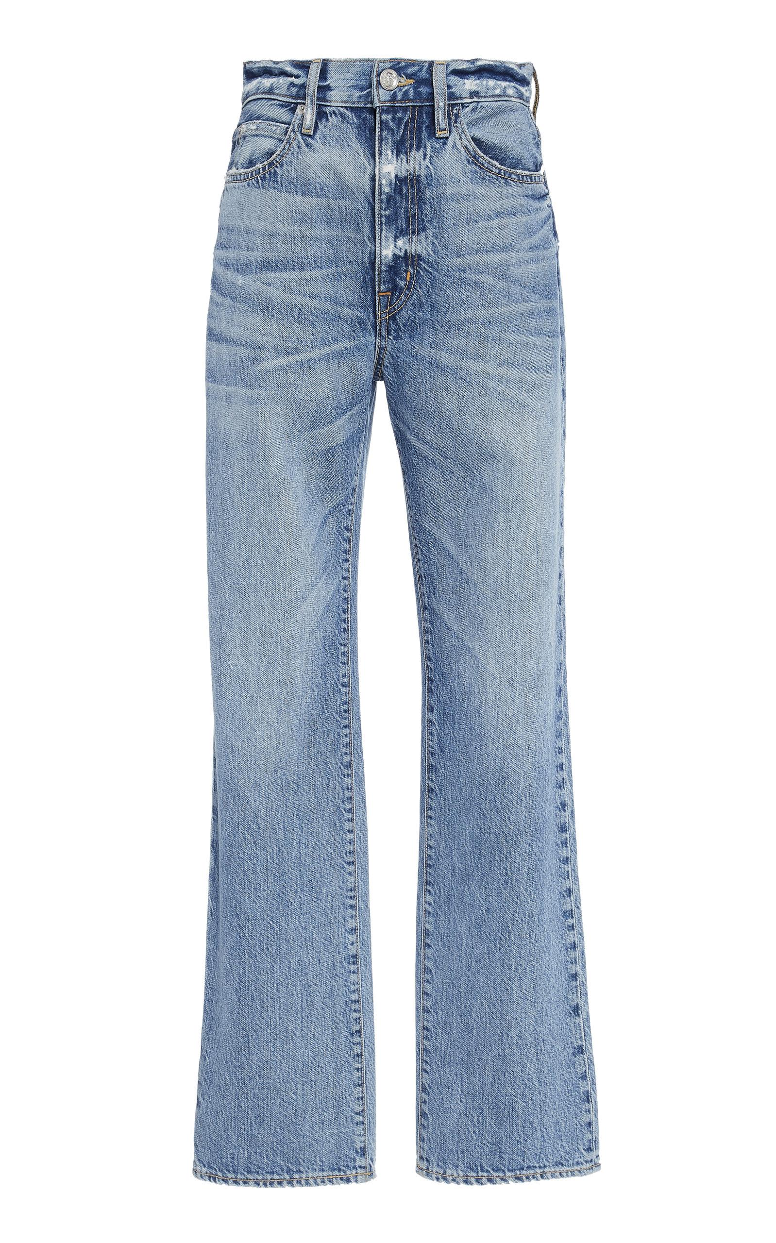 SLVRLAKE DENIM London High-Rise Straight-Leg Jeans in Medium Wash