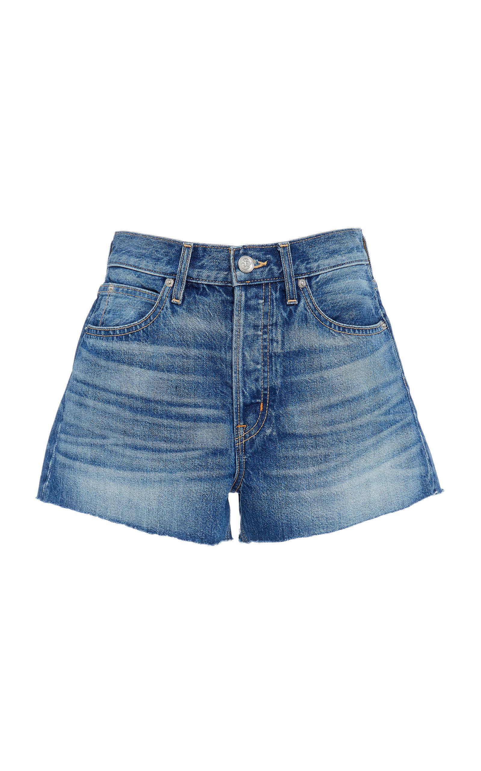 SLVRLAKE DENIM Farrah Denim Mini Shorts in Medium Wash
