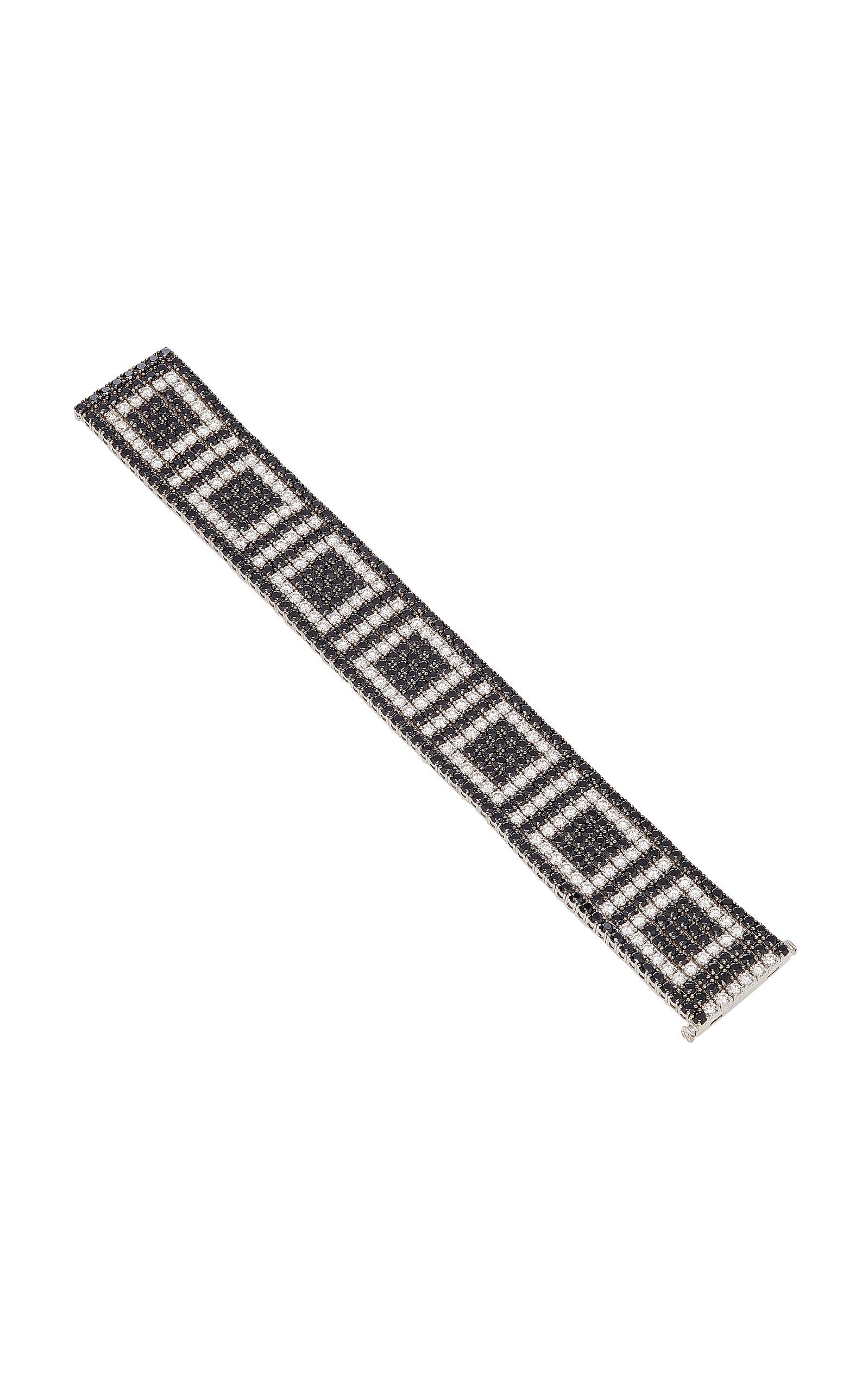 SABBADINI White Gold Diamond And Spinel Bracelet in Black