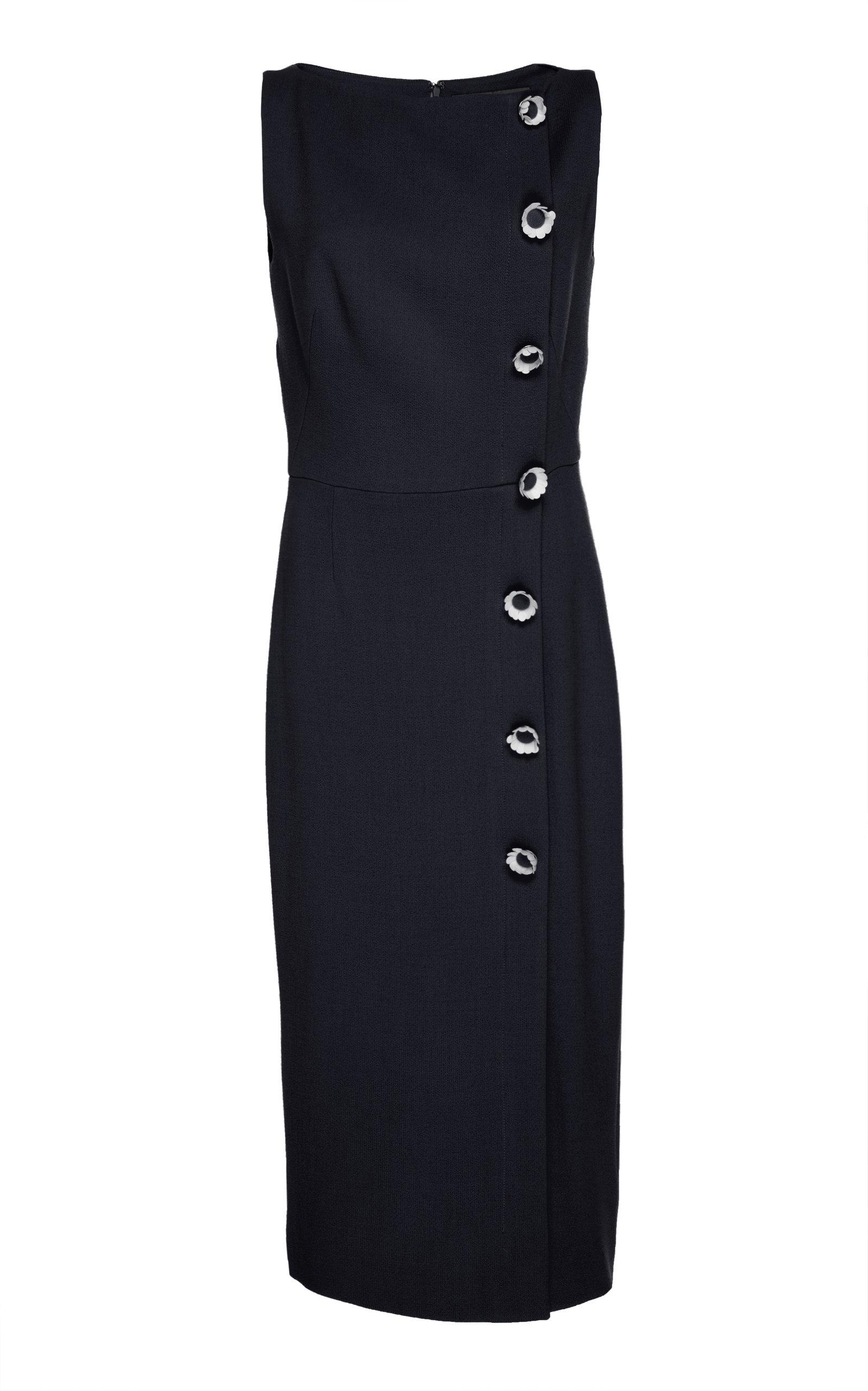 Lela Rose Wool-Blend Sheath Dress