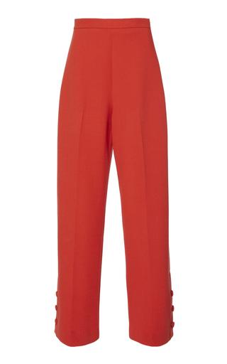 LELA ROSE | Lela Rose Cropped Wool-Blend Pants | Goxip
