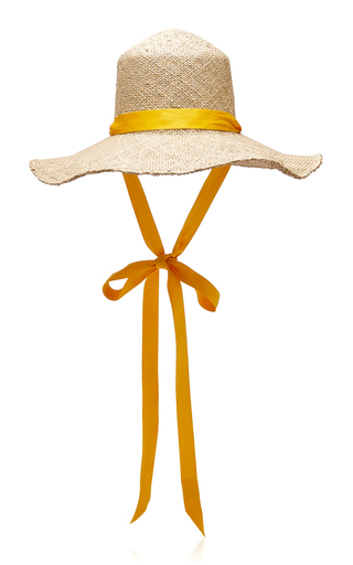 CLYDE | Clyde Odesa Cotton-Trimmed Straw Hat | Goxip
