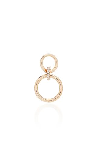 GAELLE KHOURI | Gaelle Khouri Single 18K Logos Earring | Goxip