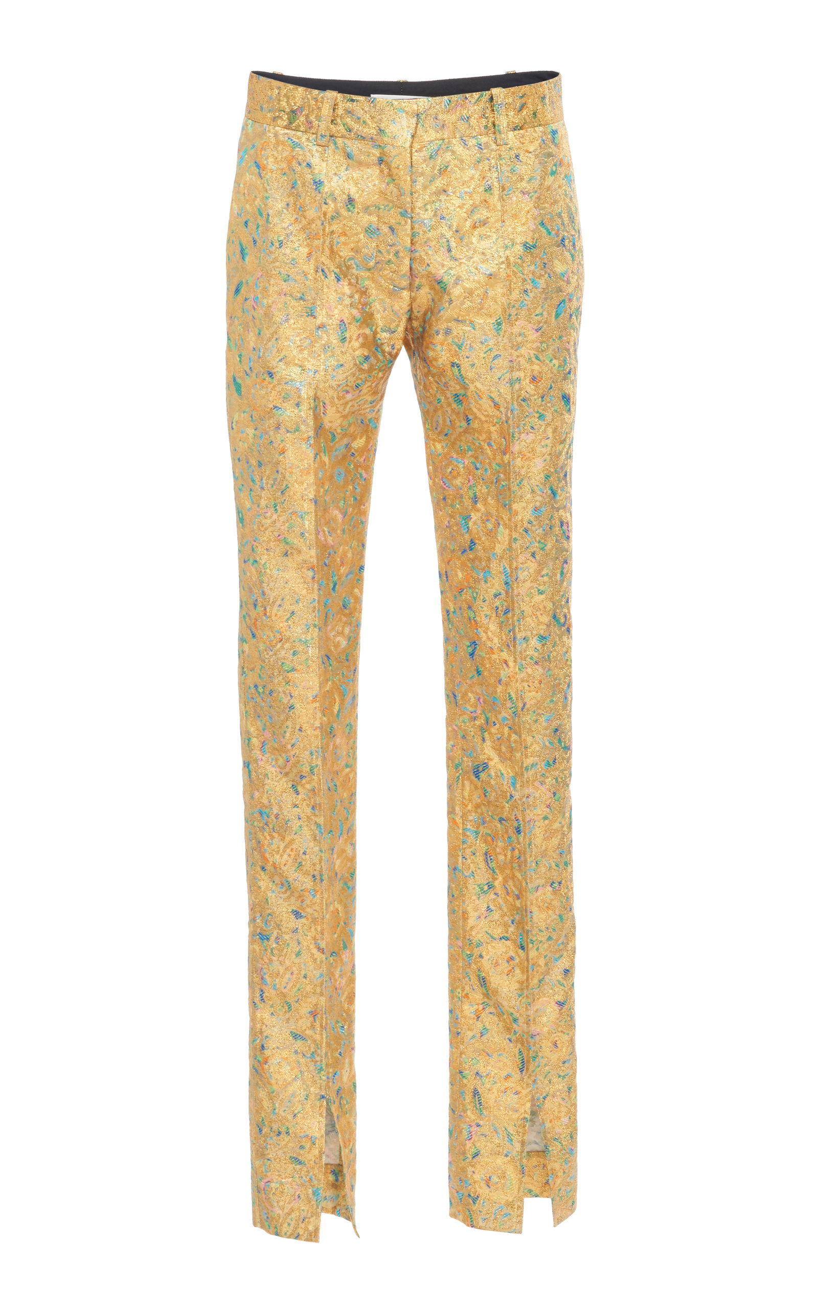 Victoria Beckham SKINNY METALLIC JACQUARD PANTS