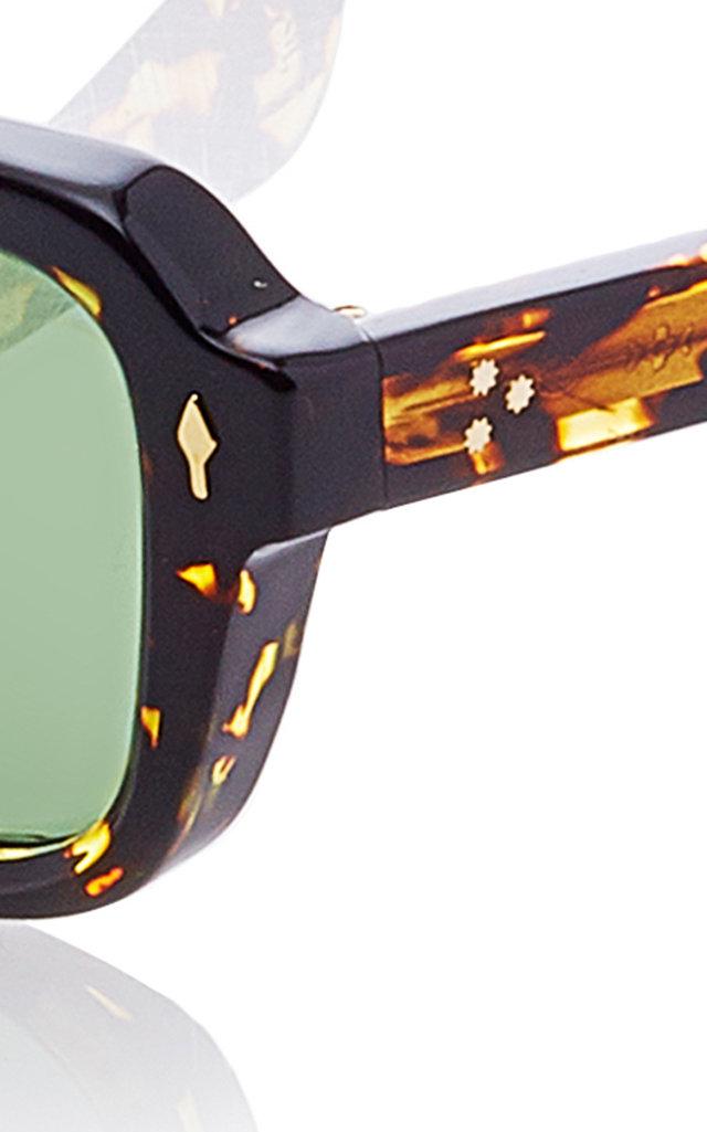 4003d8561b Taos Square-Frame Tortoiseshell Acetate Sunglasses