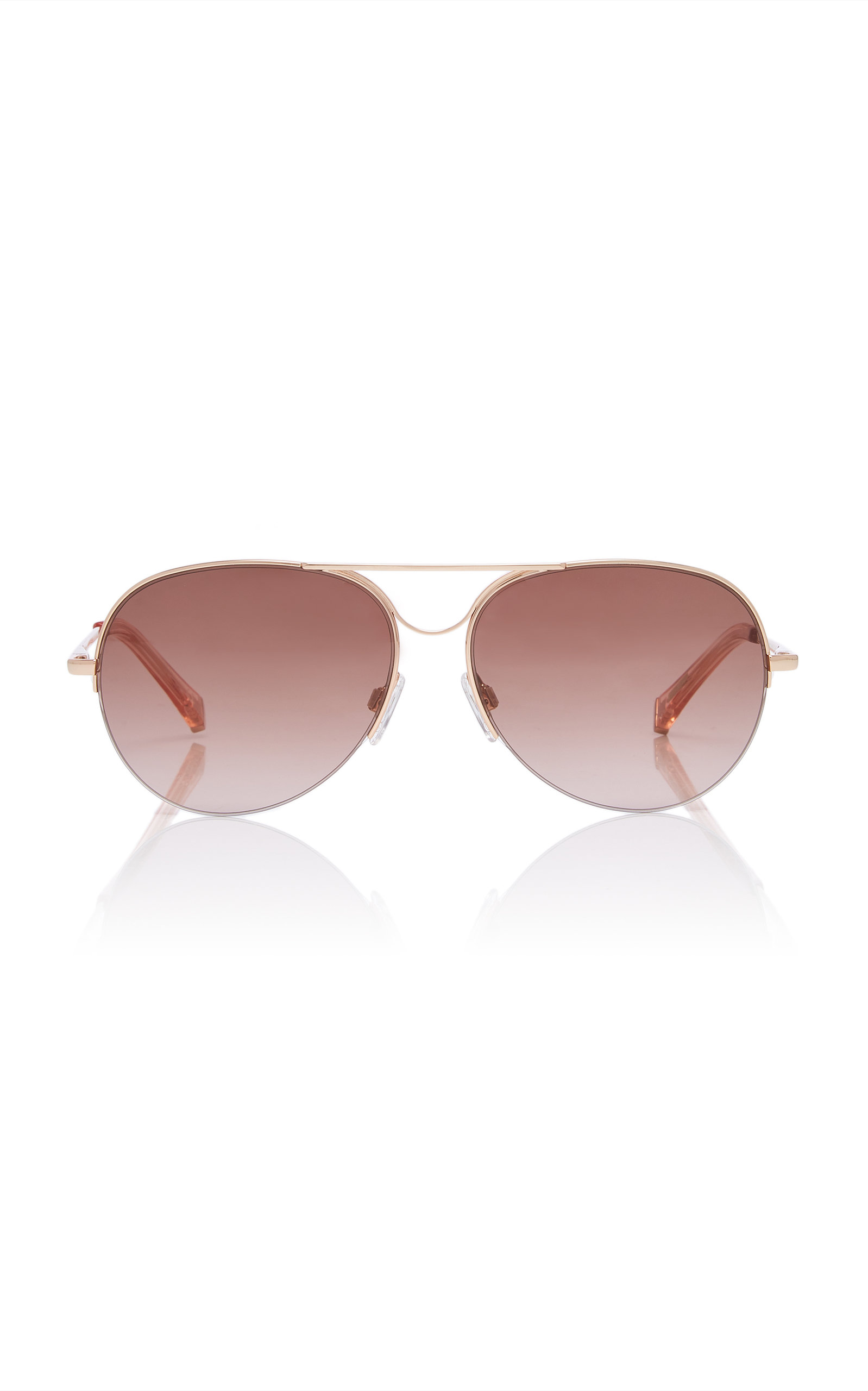 KATE YOUNG | Kate Young Alicia Aviator-Style Acetate And Metal Sunglasses | Goxip