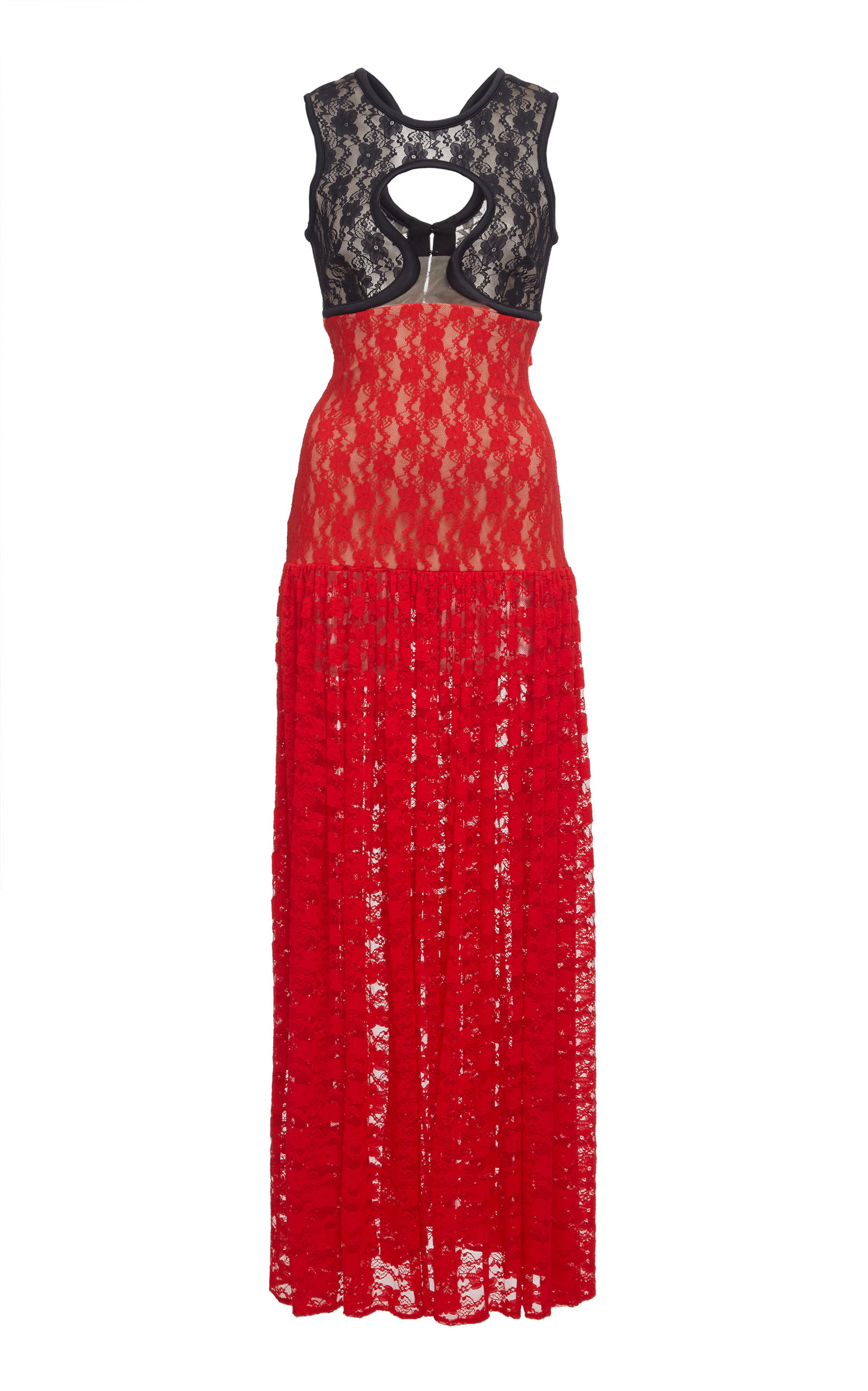 Christopher Kane LACE CUTOUT GOWN