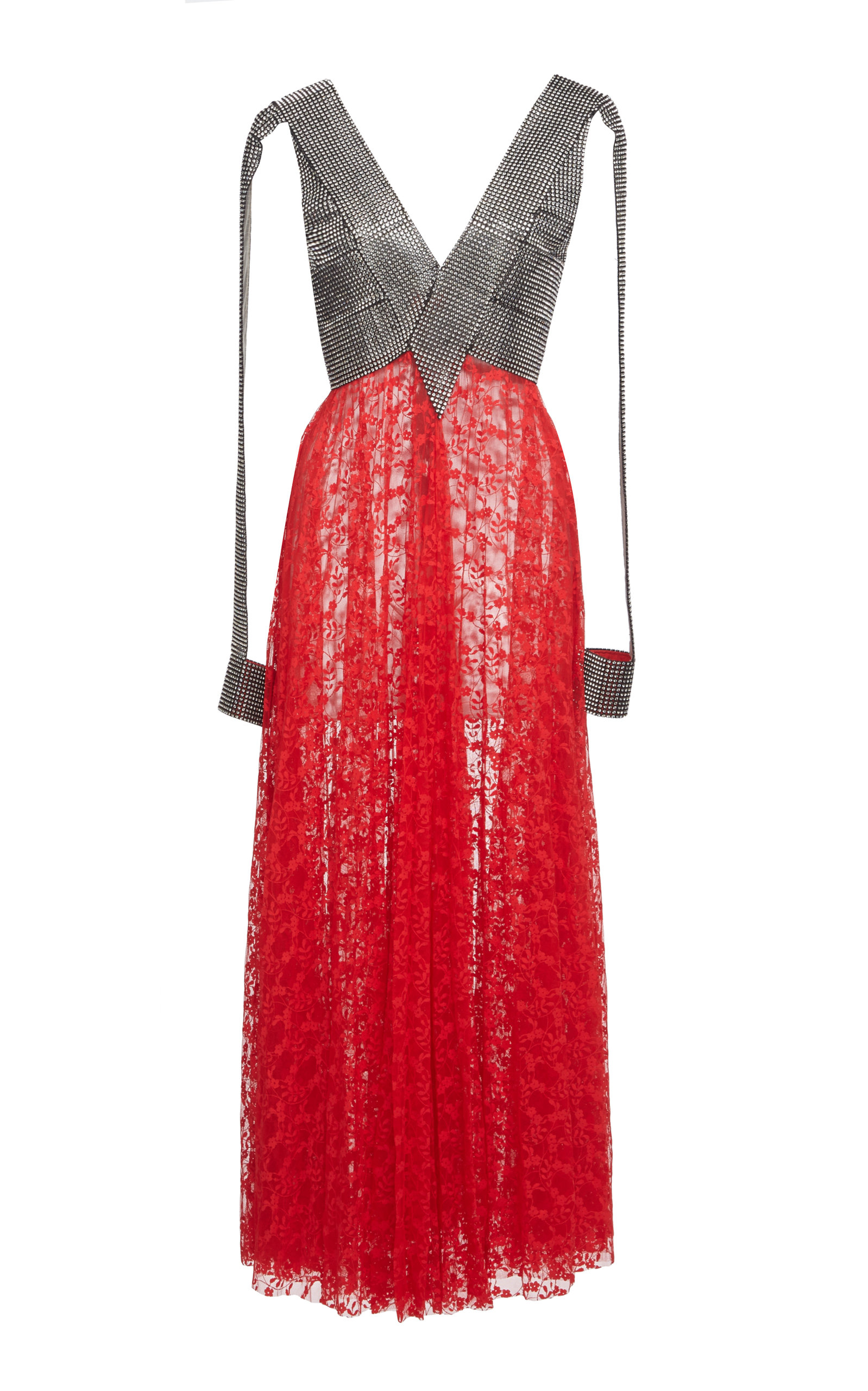 Christopher Kane SEQUIN AND LACE MIDI DRESS