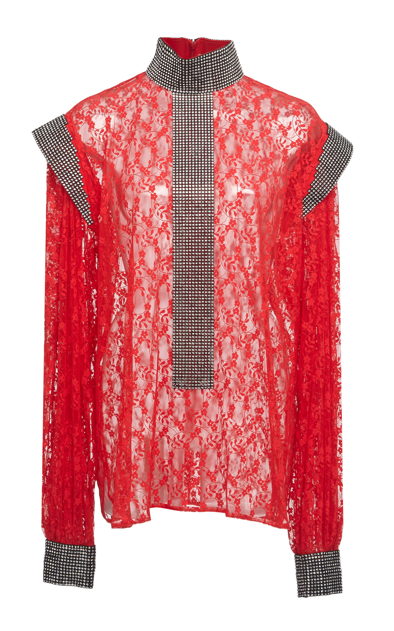 Christopher Kane LACE AND SEQUIN BLOUSE