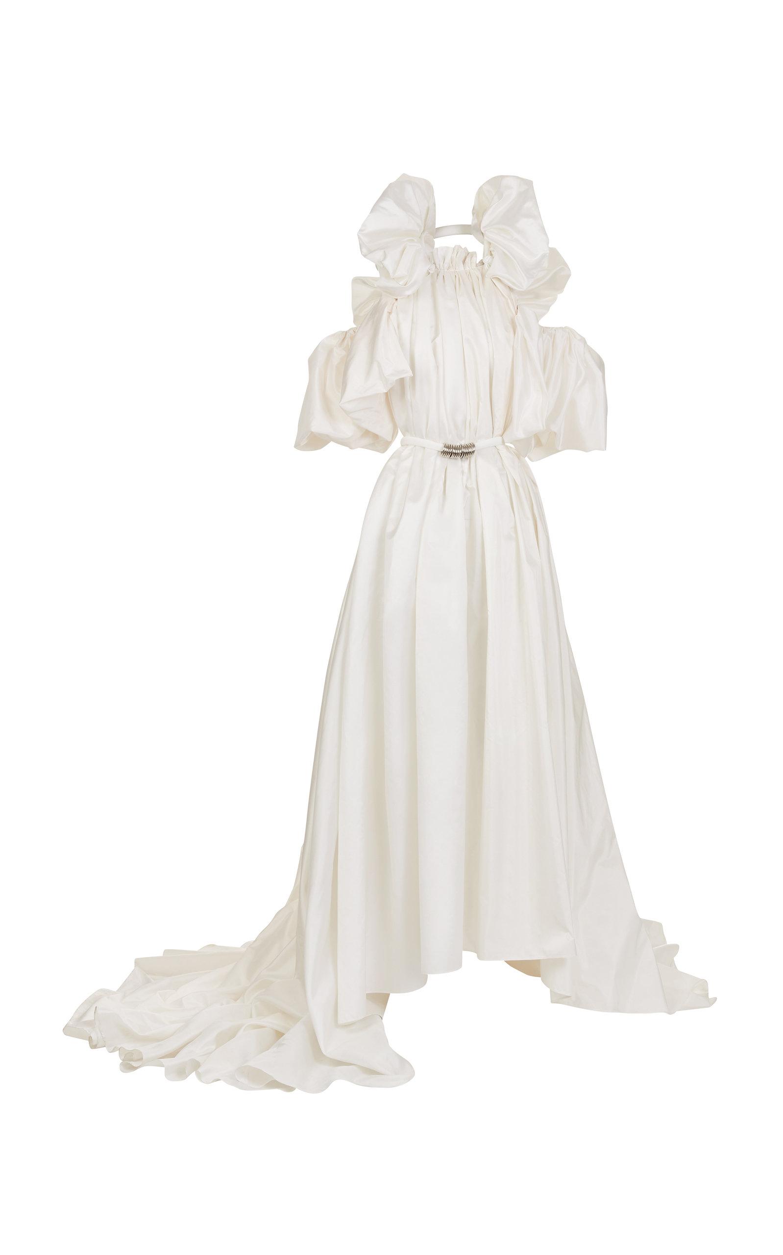 Maticevski Hyacinth Ruched Silk Gown