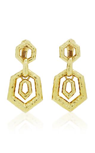 DAVID WEBB | David Webb Hexagonal Earrings | Goxip