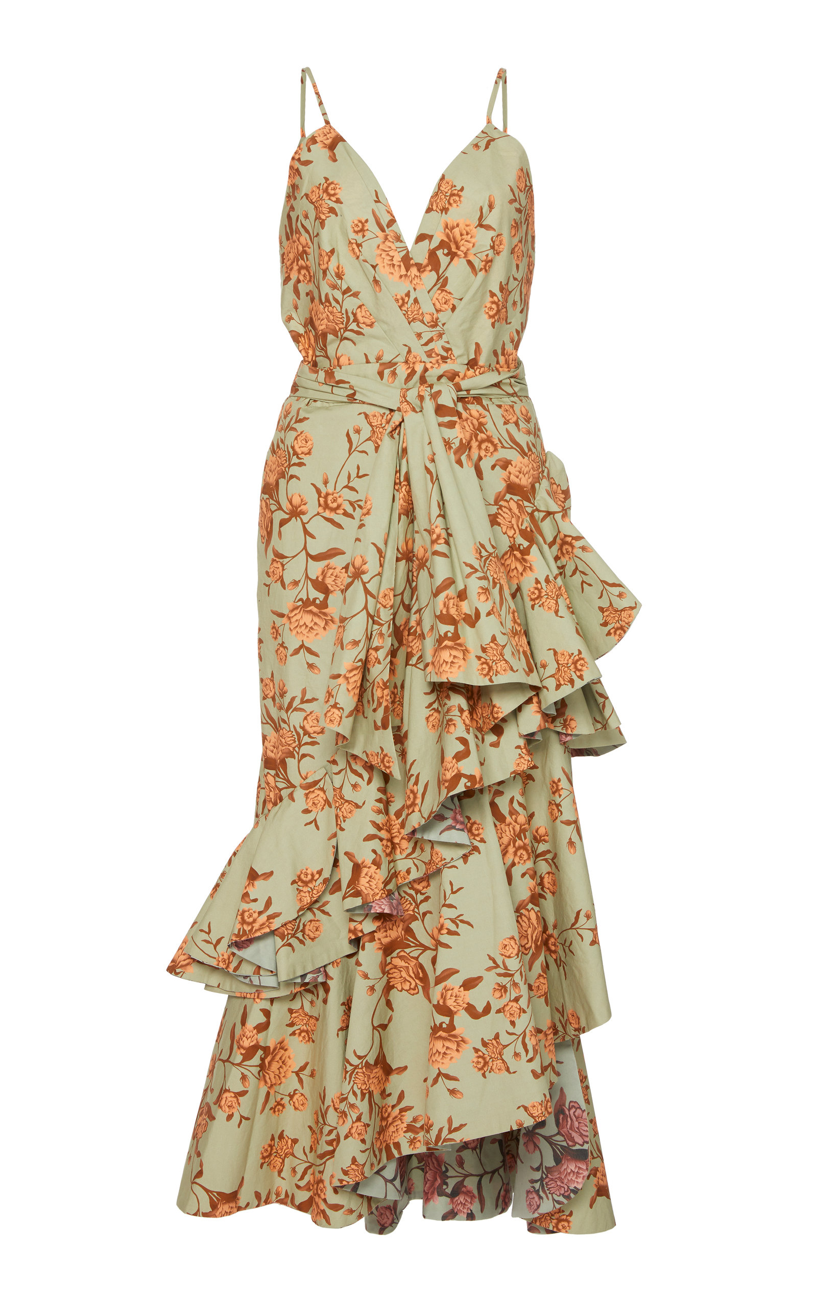 6d60fe9971f Johanna OrtizRhapsodie Oriental Floral Cotton-Poplin Dress. CLOSE. Loading