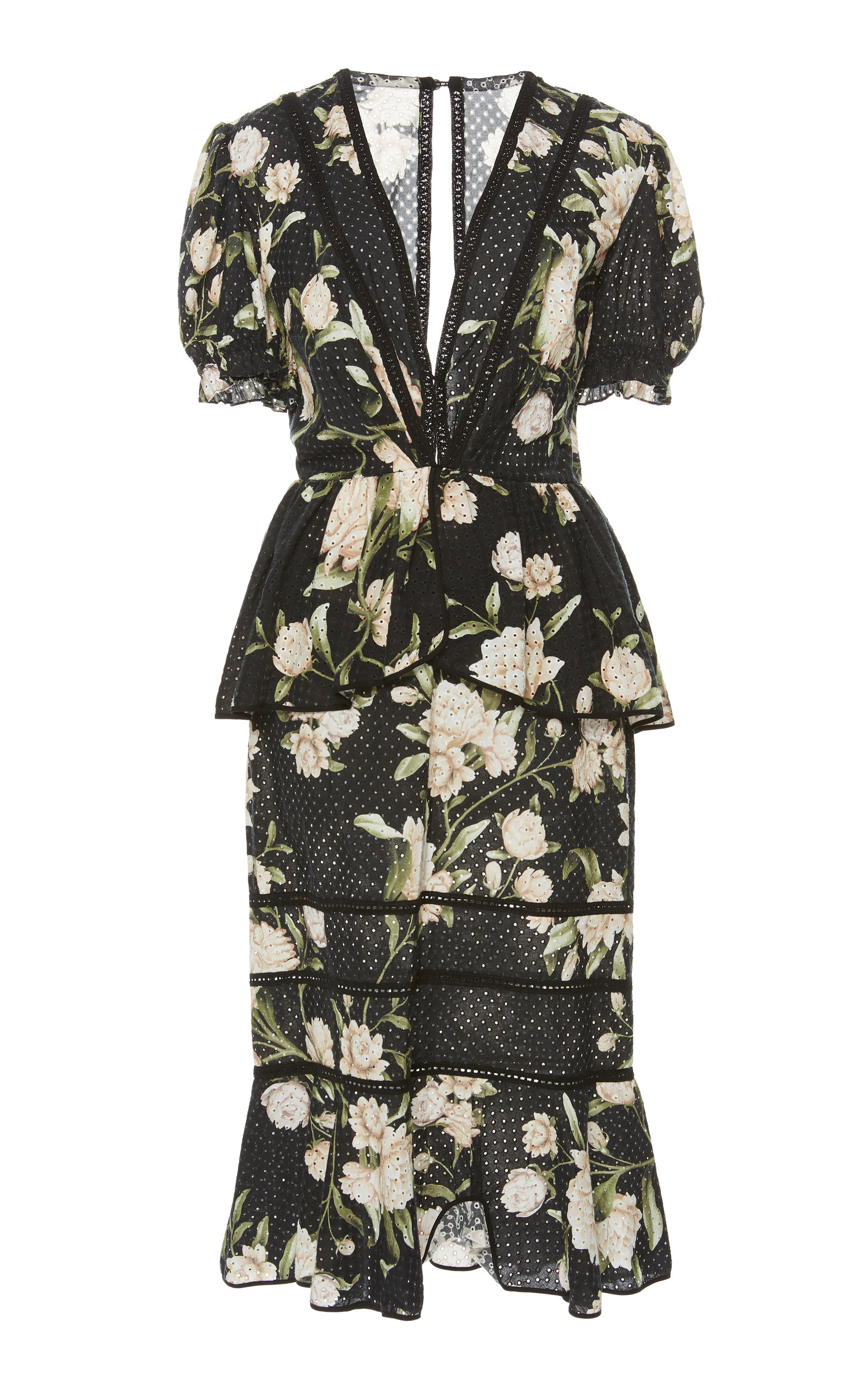 bda573ced22 Johanna OrtizOriental State Floral Cotton Eyelet Dress. CLOSE. Loading