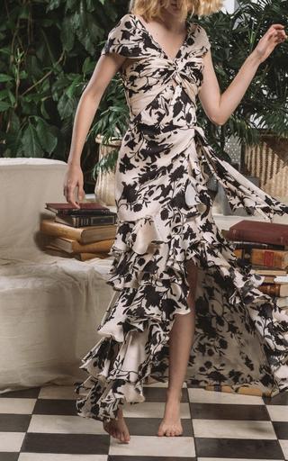 78ececfd6abb0 Valley Of The Kings Silk Organza Dress by Johanna Ortiz